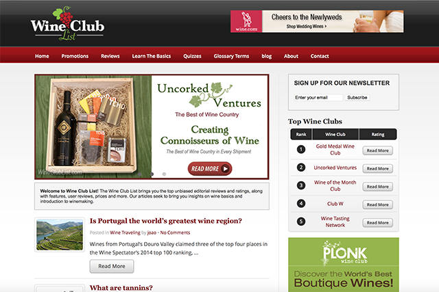Wine Club List